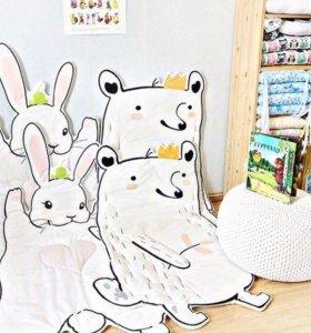 Матрасики для малышей зайка и енот