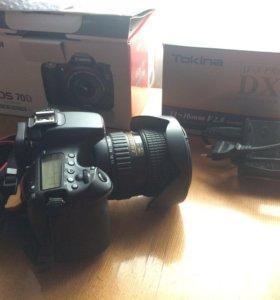 Canon 70D с обьективом Tokina 11-16 2.8