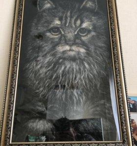 Эксклюзивная картина Серьезный кот