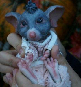 Мышка-кукла реборн
