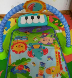 Развивающий коврик fisher price с пианино