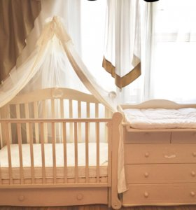 Кроватка+комод