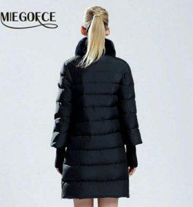 Куртка с мехом кролика зимняя