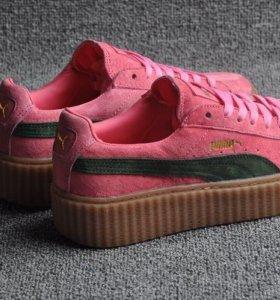 Розовые Puma suede creepers Rihanna