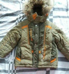 Куртка и полукомбинезон зима.Размер 104