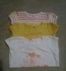 Три футболки размер 80