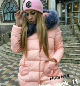 Женская куртка + шапка