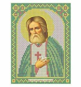 Вышивка бисером Святой Серафим Саровский
