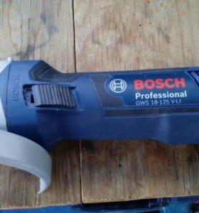 Аккумуляторная УШМ Bosch