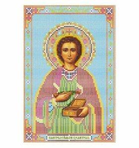 Вышивка бисером Святой Пантелеймон Целитель