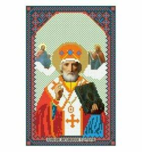 Вышивка бисером Святой Николай Чудотворец