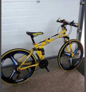 Велосипед новый , горный , складной.