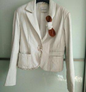 Кожаный пиджак/куртка, 44 р-р