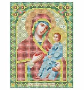Вышивка бисером икона Тихвинская