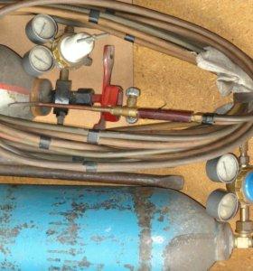 Пост газовой сварки-баллоны,резак,шланги,редуктора
