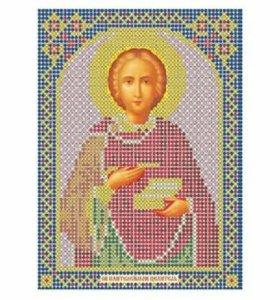Вышивка бисера икона Святой Пантелеймон Целительш