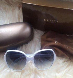 Новые солнцезащитные очки gucci оригинал белые