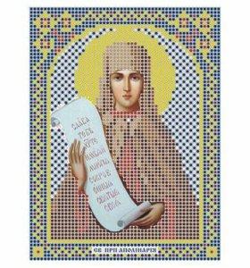 Вышивка бисером Святая Полина