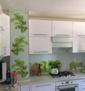 Кухня мдф +фартук стекло