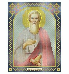 Вышивка бисером Святой Илья Пророк