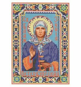 Вышивка бисером Святая Ксения Петербургская