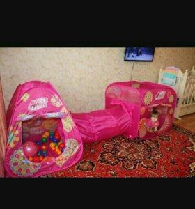 Детская палатка с тюнелем