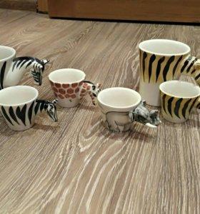 Комплект из 6 декоративных чашек