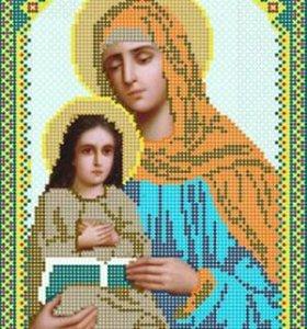 Вышивка бисером Святая Анна