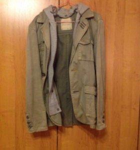 Джинсовый пиджак с капюшоном Jack Jones