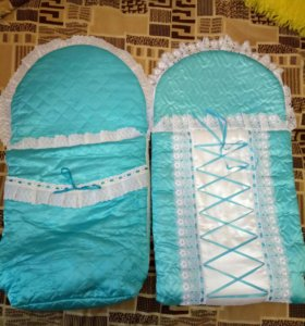 Конверты для новорожденного + пакет вещей