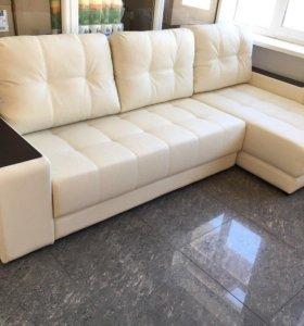 Угловой диван в ЭКО коже