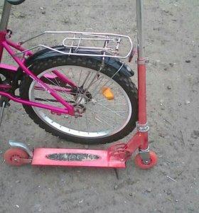 Велосипед и самокат
