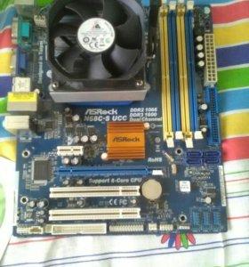 ASRock N68C-S UCC + AMD Phenom X3 8650 + 4ГБ DDR2