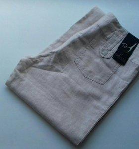 Джинсы; брюки льняные и х/б