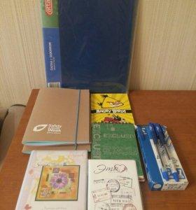 Блокноты,фотоальбом,ручки