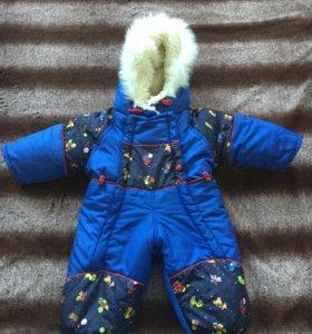 Детский комбинезон - трансформер, зима.