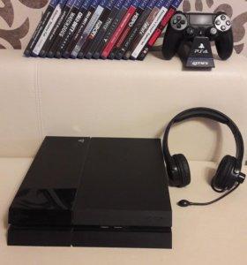 """""""Sony playstation 4"""" и 16 дисков в подарок"""