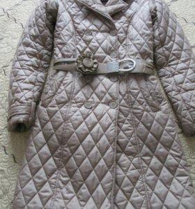Женское стёганое пальто Zarina 44 р.