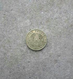 Монета 1 тенге 2000 г. (Казахстан)
