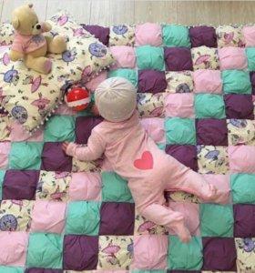 Одеяло бом-бон и подушечка