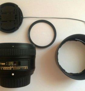 Объектив Nikkor 50 mm f/1.8G AF-S