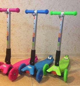 новые Scooter maxi складная ручка светящ колеса