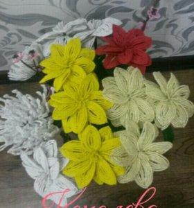Цветы и деревья из бисера. Сувениры. Подарки