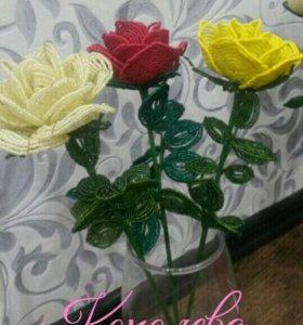 Цветы и деревья из бисера. Сувениры. Подарки.