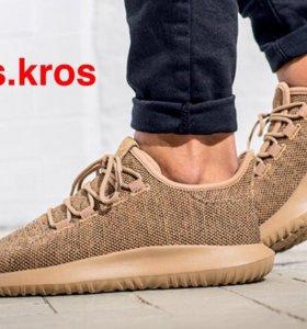 Кроссовки Adidas Tubular shadow knit golden