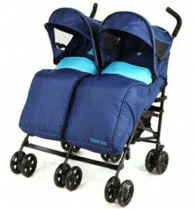 Прогулочная коляска для двойни( погодок)