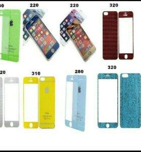 Защитные стёкла. Iphone 5/5s. 4/4s. 6/6s