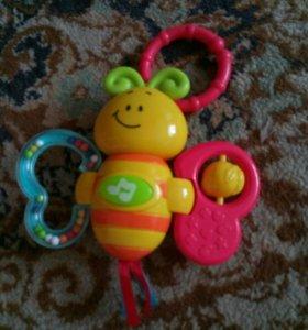 Бабочка музыкальная игрушка