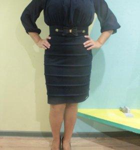 Платье с поясом 42-44