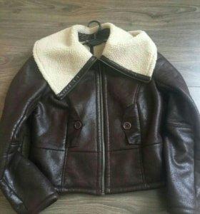 Куртка-дубленка женская